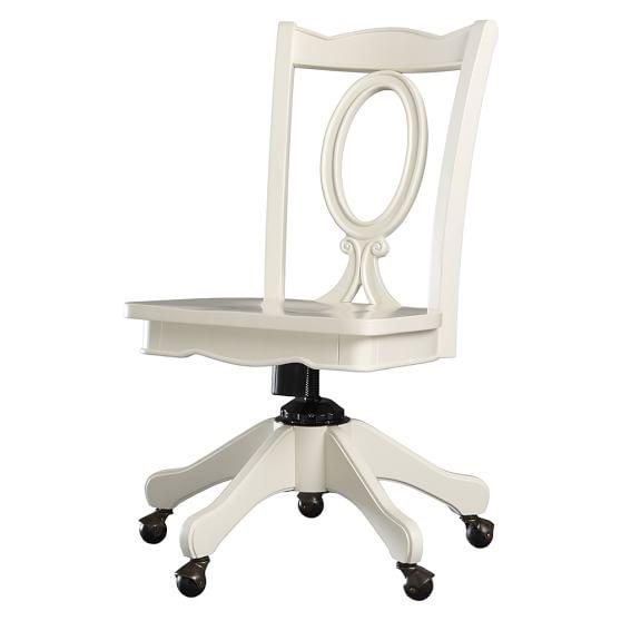 Chelsea Swivel Chair, PBTeen White