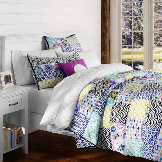 Abby Floral Patchwork Quilt, Twin, Cool