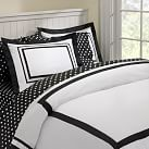 Suite Organic Duvet Cover, Twin, Black