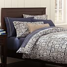 Tiki Surf Duvet Cover, Twin, Navy