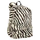 Faux Fur Zebra Backpack