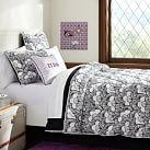 Gemma Floral Reversible Super Pouf Comforter, Twin XL, Black