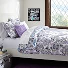 Austen Medallion Duvet Cover, Twin, Cool