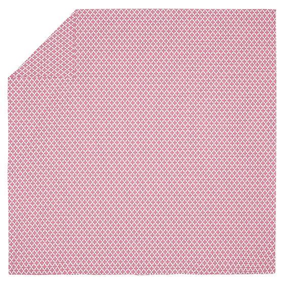 Cloverfield Duvet Cover, Twin, Dark Pink