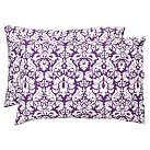 Damask Pillowcase, Standard, Set of 2, Plum