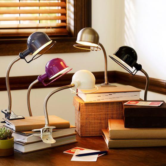 Hi-Light Clip Light + CFL Bulb, White