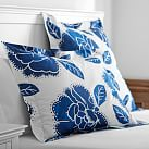 Floral Duvet Cover Standard Sham, Royal Navy