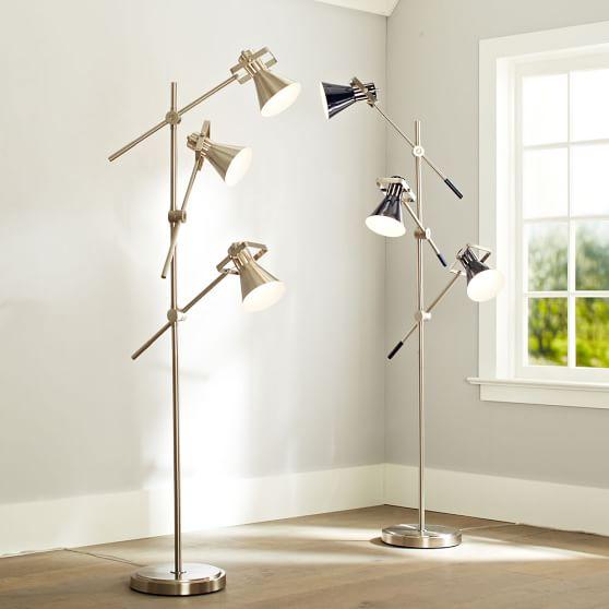 Colorful Floor Lamp, Nickel
