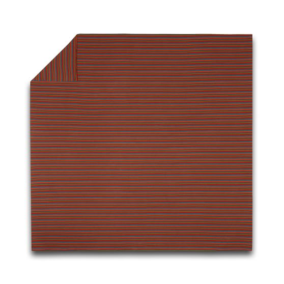 Stripe Favorite Tee Duvet Cover, Full/Queen, Brown/Orange