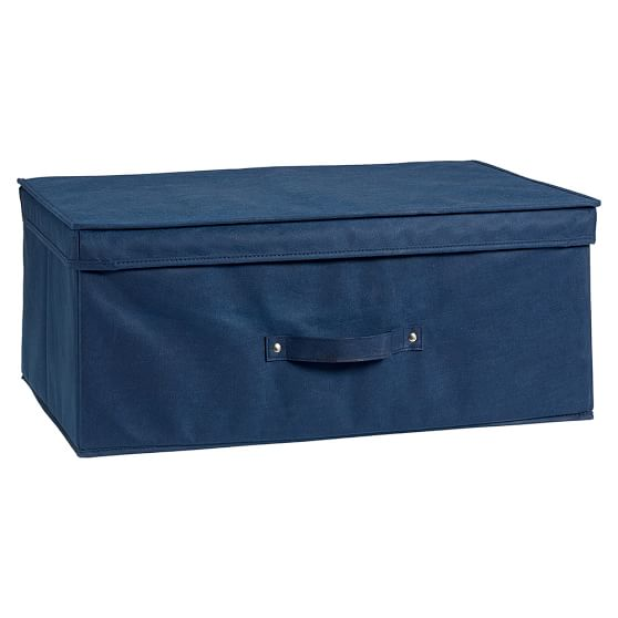Canvas Storage Bin, Simple KB Bin, Large, Navy