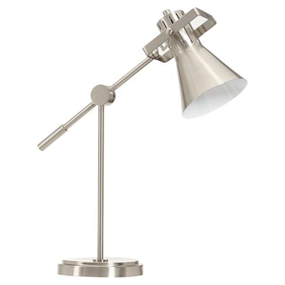 Colorful Task Lamp, Nickel