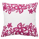 Surf Crewel Pillow Cover, 16x16, Isabel Floral Pink