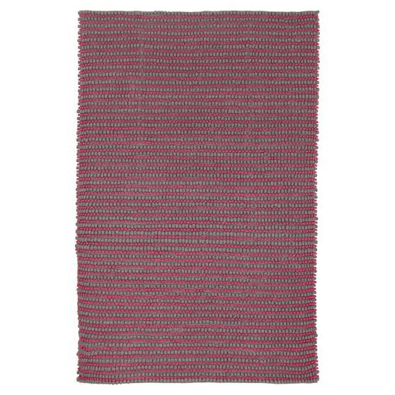 Tonal Textured Rug, Gray/Fuchsia, 3x5