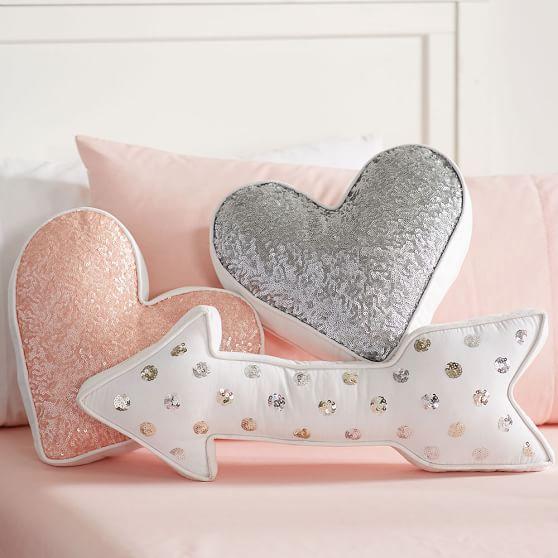 shaped sequin pillows pbteen