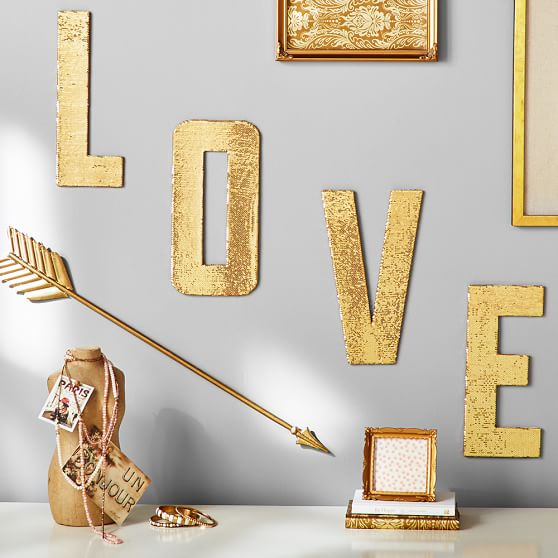love sequin letters pbteen