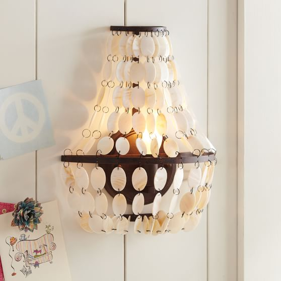 Shell Swag Sconce Pbteen