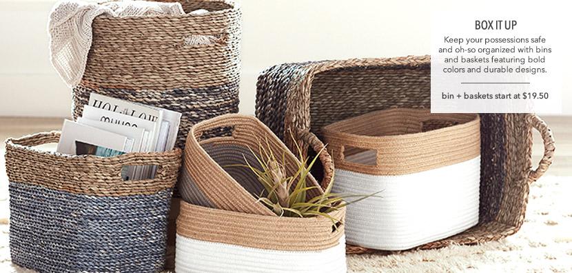 Storage Baskets and Bins