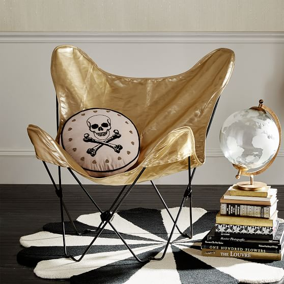 The Emily & Meritt Butterfly Chair Sling, Gold