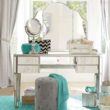 zoe desk vanity hutch pbteen diy makeup vanity made2style