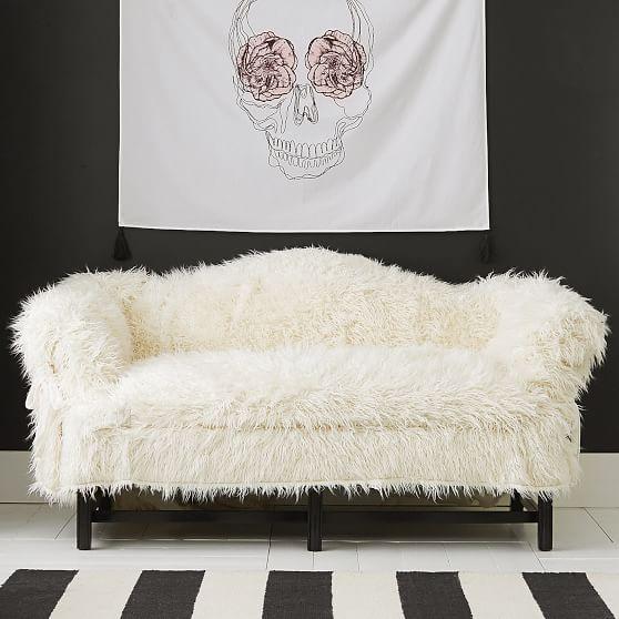 Dorm Faux-Fur Furlicious Sofa Slipcover