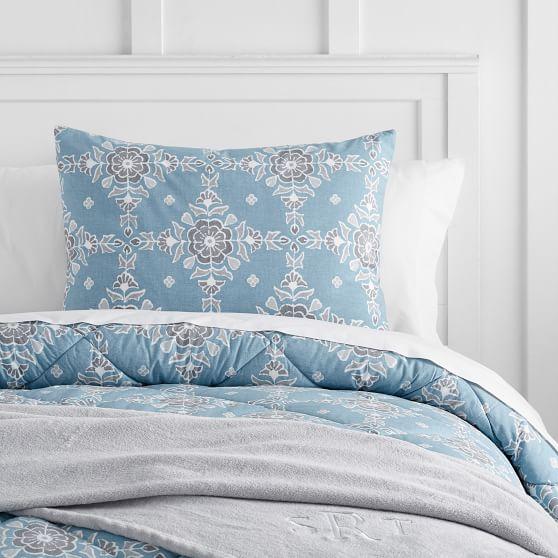 Bohemian Tile Deluxe Comforter Set, Full, Blue