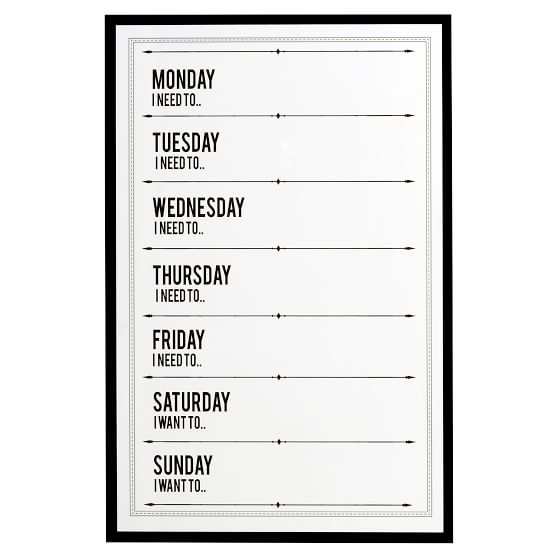 The Emily & Meritt Dry-Erase Weekly Calendar